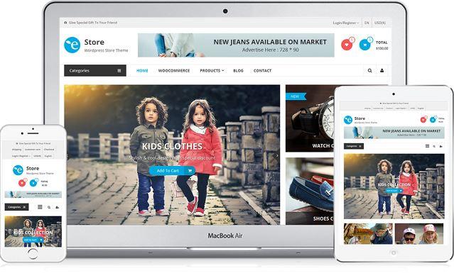 eStore popular WooCommerce WordPress theme Download