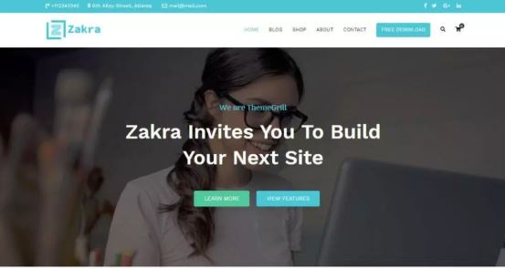 Zakra free WordPress themes for Download
