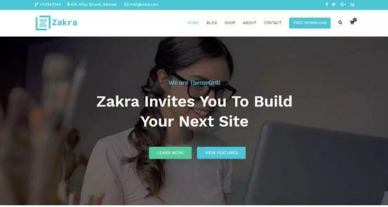 Zakra free WordPress themes for Download